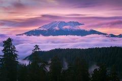 Mount Saint Helens Sunset in Washington state Stock Images