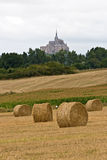 The mount Saint-Michel Abbey. Normandy, France Royalty Free Stock Photo