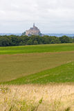 The mount Saint-Michel Abbey. Normandy, France Royalty Free Stock Photos