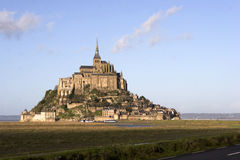 The mount Saint-Michel Abbey Stock Photo