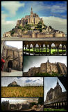 Mount Saint Michel poster Royalty Free Stock Image