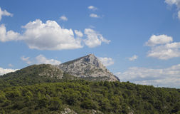 Mount Sainte Victoire in Provence Royalty Free Stock Photo