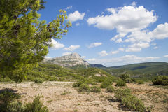 Mount Sainte Victoire in Provence Royalty Free Stock Photography