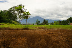 Mount Salak view from a play field photo taken in Bogor Indonesia Stock Photography