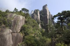 Mt. Sanqing, Sanqingshan, China, Rock mountain. Mount Sanqing is a famous national park in the south of China. Jiangxi province. It is famous for it`s rock royalty free stock image