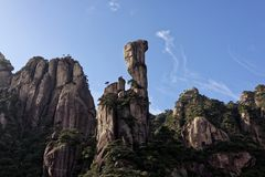 Python peak-Mount Sanqingshan. Mount Sanqingshan is also known as Huashan and Ya Shan, located at the junction of Yushan county and Dexing city in Shangrao Stock Image