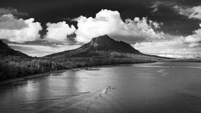 Mount Santubong in Sarawak, Malaysia. Mount Santubong is located about 35 km north of the state capital Kuching, Sarawak. It's very popular with its untouched Royalty Free Stock Image