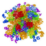 Mount scattered letters. Cyrillic colored letters scattered on a white background Royalty Free Stock Photography