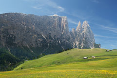 Mount Sciliar in the Dolomites Royalty Free Stock Photos