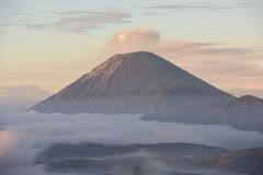 Mount Semeru, Indonesia. View of Mt Semeru from Mount Penanjakan in East Java, Indonesia Stock Images