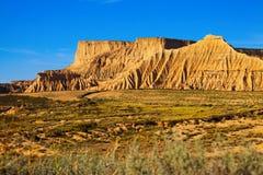 Mount at semi-desert landscape Royalty Free Stock Photo