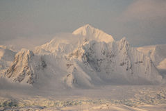 Mount Shackleton on the west coast of the Antarctic Peninsula wi Stock Photo