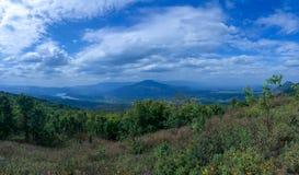 Mount shaped like Mount Fuji stock photography