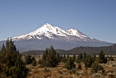 Mount Shasta. In Northern California stock photography