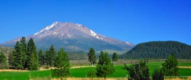 Mount Shasta. California USA with melting snow Stock Image