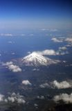 Mount Shasta from above Stock Photo