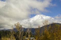Mount Shasta, California From Freeway Stock Image