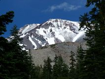 Mount Shasta Layered Ridges. Mount Shasta in layers of ridges and peaks Royalty Free Stock Photos