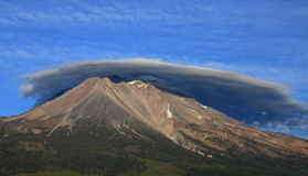 Mount Shasta and Lenticular Clouds Royalty Free Stock Photo