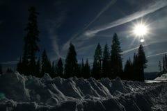 Mount Shasta road, California, USA Stock Photo
