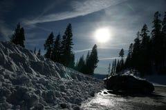 Mount Shasta road, California, USA Royalty Free Stock Images