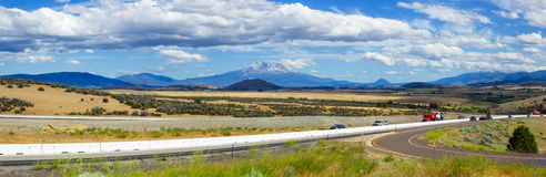 Mount Shasta valley panorama, North California, USA Stock Photos