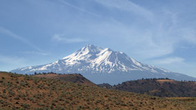 Mount Shasta - view from north west Royalty Free Stock Photos