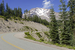 Mount Shasta, a volcano in the Cascade Range, Northern California Stock Photography