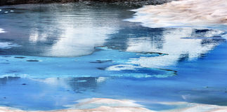Mount Shuksan Blue Snow Pool Abstract Artist Point Washington Royalty Free Stock Images