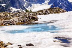 Mount Shuksan Blue Snow Pool Artist Point Washington USA Royalty Free Stock Photography