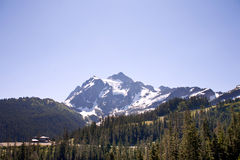 Mount Shuksan with bluesky. Mount Shuksan with blue sky view from the road to Artist Point Stock Image