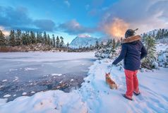 Mount Shuksan and Picture Lake in Baker Wilderness stock images