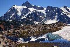 Mount Shuksan Small Reflection Pond Washington Stock Image