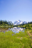 Mount Shuksan view from Picture Lake Stock Images