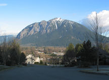 Mount Si. Near North Bend, Washington, is popular for recreation and scenic views royalty free stock images