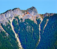 Mount Si North Bend Hikers on Top Washington State Stock Photos