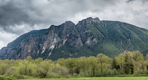 Mount Si with storm clouds Stock Photography