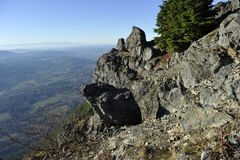Mount Si, USA. Marvelous panoramic view from the Mount Si, near Seattle, Washington, USA Stock Image