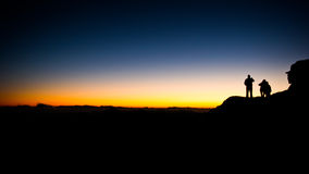 Mount Sinai. Sunset on Mount Sinai in Egypt. it altogether 9 hours to climb up and down but at the end it was worth it! The picture was taken in December 2006 Royalty Free Stock Photos