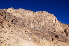 Mount Sinai. Rocks and sky at the very Mount Sinai stock images
