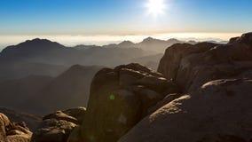 Mount Sinai montering Moses i Egypten Arkivbilder