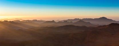 Mount Sinai montering Moses i Egypten Arkivfoto