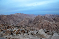 Mount Sinai in the morning haze Stock Images