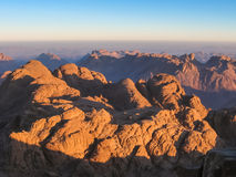Mount Sinai på soluppgång Royaltyfri Bild