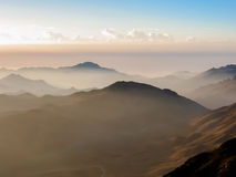 Mount Sinai at sunrise Stock Photos