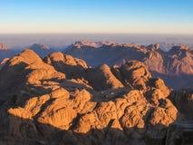 Mount Sinai at sunrise Royalty Free Stock Image