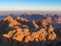 Mount Sinai at sunrise Royalty Free Stock Photography