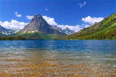 Mount Sinopah - Glacier National Park Royalty Free Stock Photo