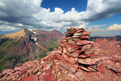 Mount Sinopah Summit - Glacier Park Royalty Free Stock Images