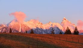 Mount Slesse at sunset Stock Image